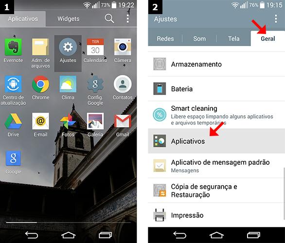 Acessando as configurações do seu smartphone