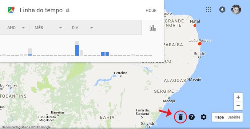 Excluir histórico de localização do Google