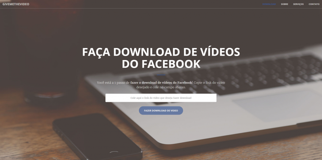 Faça o download de videos do facebook