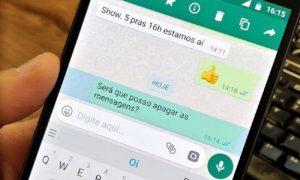 Como apagar mensagens do WhatsApp